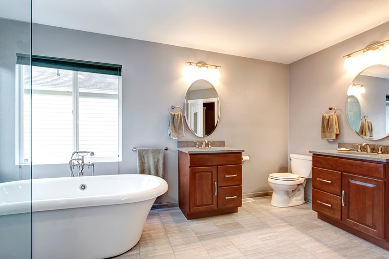 Clean bathroom provided with Ocean View plumbing repair, Bethany leak detection, Rehoboth residential plumbing, Lewes clogged drain services and Millsboro drain cleaning